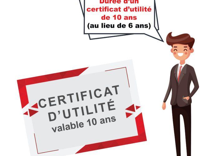 Loi PACTE : Certificat d'utilité
